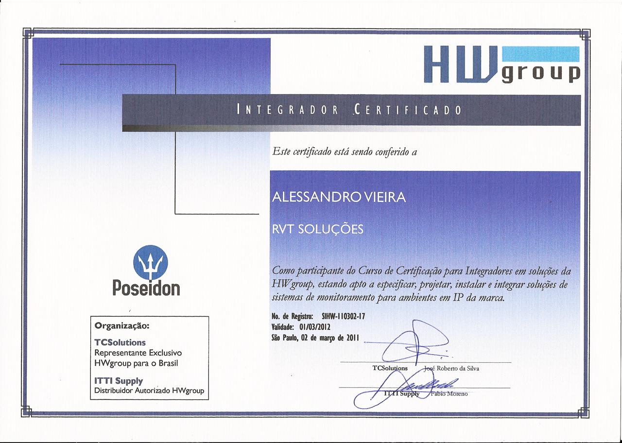 RVT Soluções - Integrador Certificado HW-Group